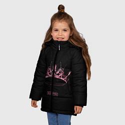 Куртка зимняя для девочки BLACKPINK- The Album цвета 3D-черный — фото 2
