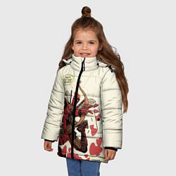 Детская зимняя куртка для девочки с принтом Deadpool, цвет: 3D-черный, артикул: 10275015906065 — фото 2