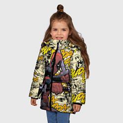 Детская зимняя куртка для девочки с принтом Deadpool, цвет: 3D-черный, артикул: 10275016706065 — фото 2