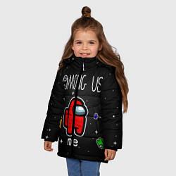 Куртка зимняя для девочки Among us Classic цвета 3D-черный — фото 2