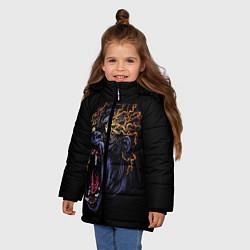 Куртка зимняя для девочки Горила Рёв цвета 3D-черный — фото 2