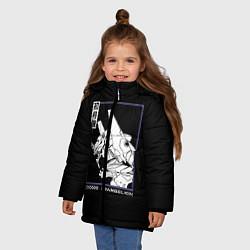 Куртка зимняя для девочки Юнит-01 цвета 3D-черный — фото 2