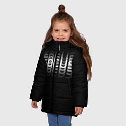 Куртка зимняя для девочки Пьяный Z цвета 3D-черный — фото 2