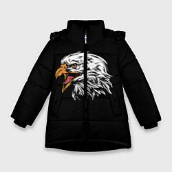 Куртка зимняя для девочки Орёл цвета 3D-черный — фото 1