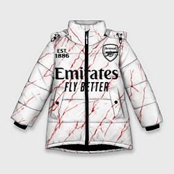 Куртка зимняя для девочки ARSENAL 2021 - ГОСТЕВАЯ цвета 3D-черный — фото 1
