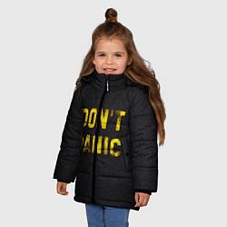 Куртка зимняя для девочки DONT PANIC цвета 3D-черный — фото 2