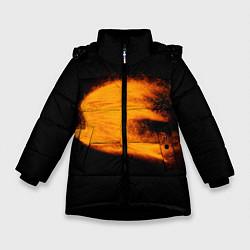Куртка зимняя для девочки Огненная птица цвета 3D-черный — фото 1