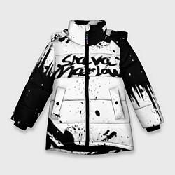 Куртка зимняя для девочки Slava marlow цвета 3D-черный — фото 1
