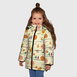 Куртка зимняя для девочки Время есть! цвета 3D-черный — фото 2