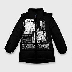 Куртка зимняя для девочки Uchiha Itachi цвета 3D-черный — фото 1