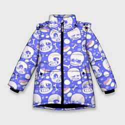 Куртка зимняя для девочки Undertale цвета 3D-черный — фото 1