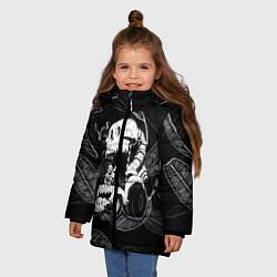 Куртка зимняя для девочки Undertale цвета 3D-черный — фото 2