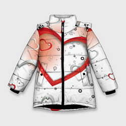 Куртка зимняя для девочки Клуб Романтики цвета 3D-черный — фото 1