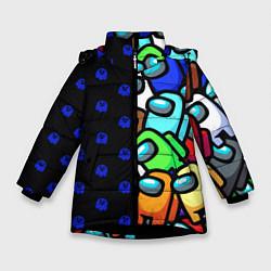 Зимняя куртка для девочки Among Us Brawl Stars