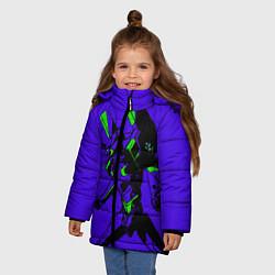 Детская зимняя куртка для девочки с принтом Евангилион, цвет: 3D-черный, артикул: 10284104706065 — фото 2