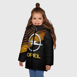 Куртка зимняя для девочки OPEL ОПЕЛЬ цвета 3D-черный — фото 2