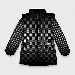 Куртка зимняя для девочки Абстракция точки цвета 3D-черный — фото 1