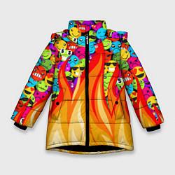 Куртка зимняя для девочки SLAVA MARLOW - Смайлики - фото 1