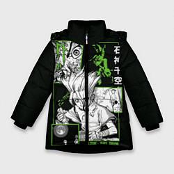 Куртка зимняя для девочки Доктор Стоун Сенку цвета 3D-черный — фото 1