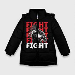 Куртка зимняя для девочки FIGHT цвета 3D-черный — фото 1