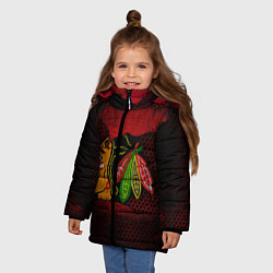 Куртка зимняя для девочки CHICAGO NHL цвета 3D-черный — фото 2