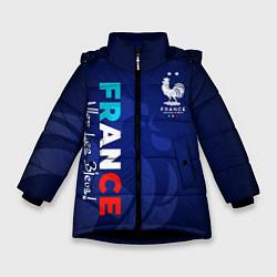 Куртка зимняя для девочки Сборная Франции цвета 3D-черный — фото 1