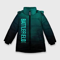 Куртка зимняя для девочки BattleField 6 цвета 3D-черный — фото 1