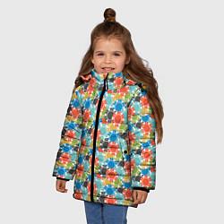 Куртка зимняя для девочки Фишки цвета 3D-черный — фото 2