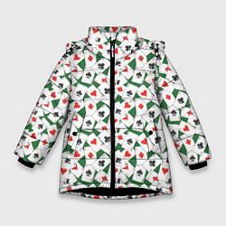 Куртка зимняя для девочки Тузы цвета 3D-черный — фото 1