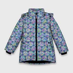 Куртка зимняя для девочки Volleyball цвета 3D-черный — фото 1