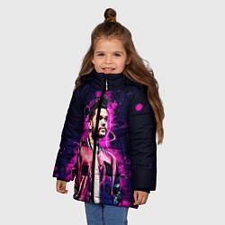 Куртка зимняя для девочки The Weeknd цвета 3D-черный — фото 2