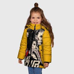 Куртка зимняя для девочки Бойцовский Клуб Три личности цвета 3D-черный — фото 2