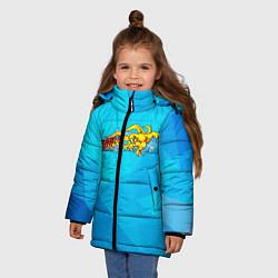 Куртка зимняя для девочки Eagle Орел цвета 3D-черный — фото 2