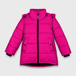 Куртка зимняя для девочки Форма стражника из Игры в кальмара цвета 3D-черный — фото 1