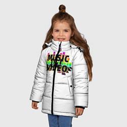 Куртка зимняя для девочки Merch - DJ MUSICVIDEO цвета 3D-черный — фото 2