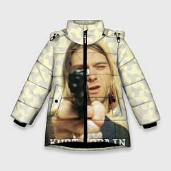 Куртка зимняя для девочки Кобейн с пистолетом - фото 1