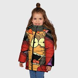 Детская зимняя куртка для девочки с принтом Frai Horrified, цвет: 3D-черный, артикул: 10064261906065 — фото 2