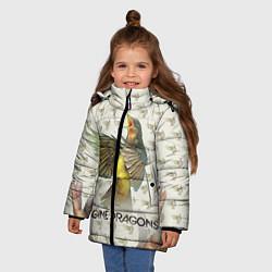 Куртка зимняя для девочки Imagine Dragons: Fly цвета 3D-черный — фото 2