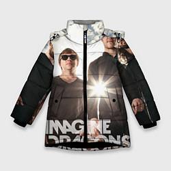 Детская зимняя куртка для девочки с принтом Imagine Dragons, цвет: 3D-черный, артикул: 10064384606065 — фото 1