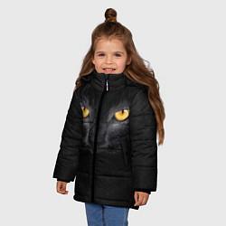 Куртка зимняя для девочки Черная кошка цвета 3D-черный — фото 2