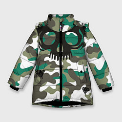 Куртка зимняя для девочки Камуфляж цвета 3D-черный — фото 1