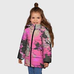 Куртка зимняя для девочки Краска - фото 2