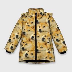 Куртка зимняя для девочки Doge цвета 3D-черный — фото 1