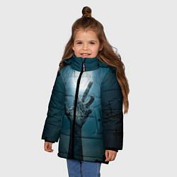Куртка зимняя для девочки Рука цвета 3D-черный — фото 2