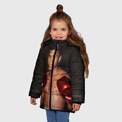 Куртка зимняя для девочки Мухаммед Али цвета 3D-черный — фото 2