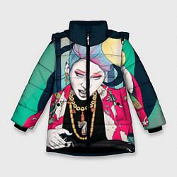 Куртка зимняя для девочки Block B Girl цвета 3D-черный — фото 1