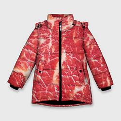 Куртка зимняя для девочки Мясо цвета 3D-черный — фото 1