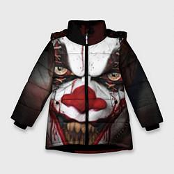 Детская зимняя куртка для девочки с принтом Зомби клоун, цвет: 3D-черный, артикул: 10072074206065 — фото 1