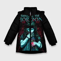 Детская зимняя куртка для девочки с принтом BMTH: Zombie Girl, цвет: 3D-черный, артикул: 10073644406065 — фото 1