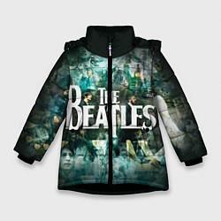 Куртка зимняя для девочки The Beatles Stories цвета 3D-черный — фото 1